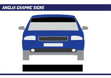 Car Sun Strip plain vinyl visor decal Graphic car van  various colours