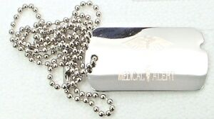 Silver Plated Medical Alert id tags