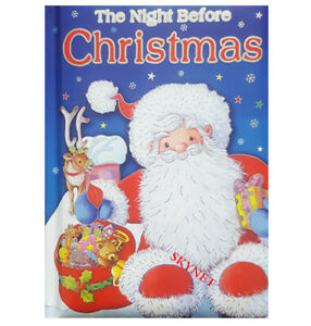 Beautifully Illustrated The Night Before Christmas Padded Colourful Story Book