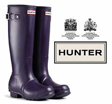 Hunter Original Tall Wellington - Unisex Adult - Aubergine - Size 12