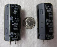 2200uF 80V  Panasonic TS-HA series 105°C snap in Electrolytic Capacitors 4 pcs