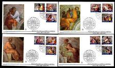 Vatikan 1023/34 FDC Restaurierung der Sixtinischen Kapelle