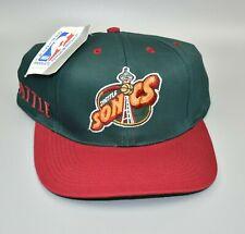 Seattle Sonics Supersonics NBA Twins Enterprise Vintage 90's Snapback Cap Hat