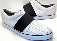 Puma EL Rey Perforated Leather Slip-On Skate Shoes, White / Black Men's 47 US 13