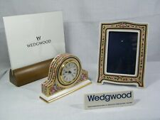 """Wedgwood  Bone China """" Clio """"  Mantle Clock & Matching Picture Frame Superb !!!."""