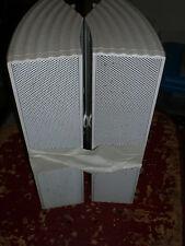 Vintage HP Packard Bell multimedia computer monitor mounted speaker set, Working