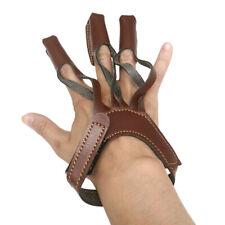 Archery Protect Glove 3 Finger Pull Bow Arrow Guanto da tiro in pelle