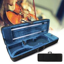 4/4 Full Size Oblong Shape Black Violin Carry Box Hard Case with Cushioning