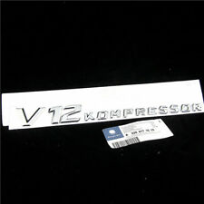 1PC*Chrome Side Fender Sticker Emblem Badge OEM V12Kompres For All Mercedes-Benz