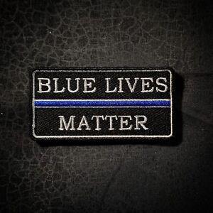 Blue Lives Matter Thin Blue Line motivational patch