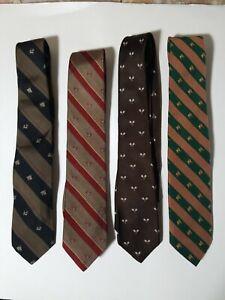 Assorted ties including Berman-Bach Vintage patterned ties. Set of 4. Retro cool