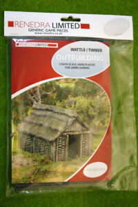 Renedra Wattle and Timber Outbuilding Plastic Scenery Terrain 28mm - 1/56th S...