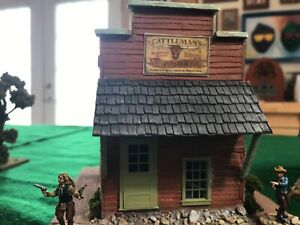 28MM OLD WILD WEST BUILDING CATTLEMAN'S CLUB PAINTED!!!