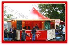 Verkaufsstand Marktstand Reisende Gastronomie...23,4m² / rot-creme