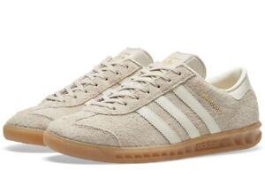 Adidas Hamburg W Women Trainers in Clear Brown off White Gum BB5110 suede