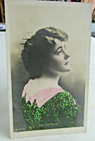 1909 Actress Postcard of Miss EVA MOORE Hand painted Photo Postcard Stage actor