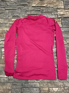 Nike Pro Combat Women's Dri Fit Fitted Long Sleeve Compression Shirt Sz S Pink