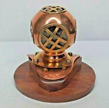 """Copper/Brass Mini Sea DIVER'S HELMET Tabletop Nautical Decor Replica 4.5"""""""