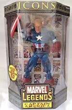 "MARVEL LEGENDS CAPTAIN AMERICA UNMASKED 12"" ICONS SERIES 1 NEW  TOY BIZ"