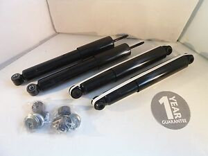 Isuzu Rodeo 2.5 3.0 D Front and Rear Shock Absorbers Dampers 2003 to 2012
