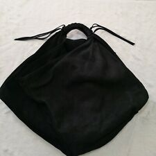 Maison Martin Margiela Black Nubuck Hobo Bag with Zippered Pouch - Selling low