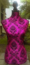 Fabric Dress Form Design Chic Mannequin Pink Black