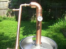 "Beer Kit Keg 2"" inch Copper Pipe Moonshine Still Pot Still Column Distillation!"