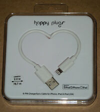 Happy Plugs 8-PIN Charge/Sync Cable for iPhone, iPad & iPod (White)