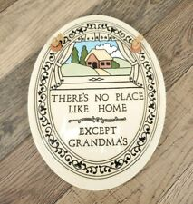Trinity Pottery There's no place like home except Grandmas Wall Plaque Handmade