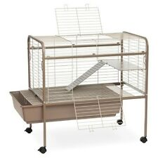 Rabbit Cage Stand Removeable Cleaning Tray Animal Pet Ferret Gerbil Guinea Pigs