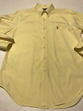 Polo Ralph Lauren Classic Fit Yellow  Dress Shirt 16 32/33 Long Sleeve