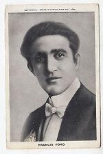 FRANCIS FORD - Film Star - Actor - Transatlantic Co - c1910s era Cinema postcard