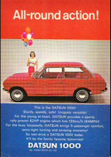 "1967 NISSAN DATSUN 1000 AD A2 CANVAS PRINT POSTER FRAMED 23.4""x16.5"""