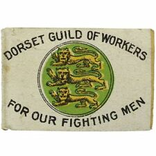 WW1 Dorset Guild of Workers FOR OUR FIGHTING MEN Flag Day Fund Pin Badge - LY61