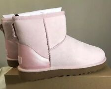UGG CLASSIC MINI II METALLIC 1019029 SEASHELL PINK SZ 9 AUTHENTIC (EXCLUSIVE)