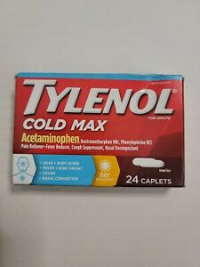 Tylenol Cold Max Multi-Symptom Daytime 24ct  CLEARANCE!!!  EXP 8/2021