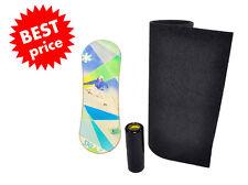 Trickboard Skillz + Roller + Carpet - Indo Board Rollerbone Balance Set via GLS