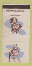 Matchbook Cover - Superior Match Dogs Boxer Doberman Pinscher  30 Strike