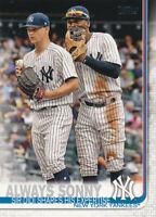 2019 Topps Series 1 Sonny Gray Didi Gregorius #263 New York Yankees