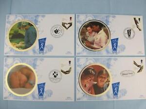 50th Ann. National Health Service, 4 Commemorative Benham Stamp Cover set, 1998