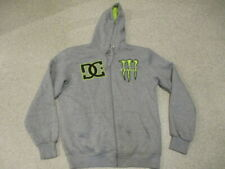 DC Shoes Monster grey zipped hoodie top big logo on back adult size