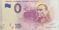 BILLET 0  EURO ANKARA - M.KEMAL ATATURK   2019  NUMERO 100