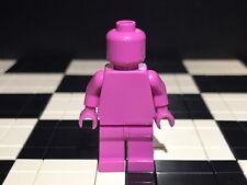 Lego Plain Dark Pink Minifigure Head Torso Hands Legs / Monochrome