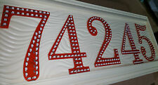 LED Illuminated Light House Street Address Number outdoor Plaque. Custom made.