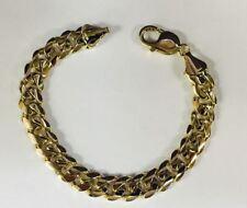 "Link mens bracelet 7"" 30 grams 8Mm 18k Solid Yellow gold Miami Cuban Curb"