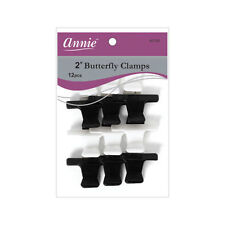 """Annie 2"""" Butterfly Clamps Hair Accessories Claws Clip Pins Black White #3180"""