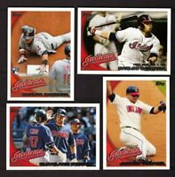 2010 Topps CLEVELAND INDIANS Team Set w/ Update 30 cards Carlos Santana RC US330
