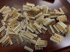 95-PCS 7 Pin Single Row 3.96mm Header Connector Right angle Gold Pin