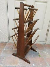 "Magazine Rack Stand w/ Eight Shelves 12x13x29.75"" Antique Vintage 4 Tier Wooden"