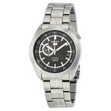 SEIKO SSA065 SSA065K1 Mens Automatic 24-Hour Black Dial 100m Steel Watch